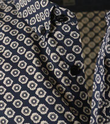 Detail Dstrezzed Shirt Korte Mouw Donkerblauw