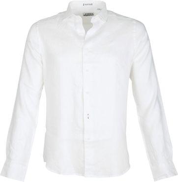Dstrezzed Shirt Leinen Weiss