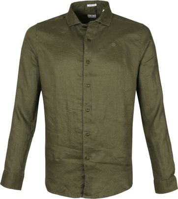 Dstrezzed Shirt Linen Dark Green