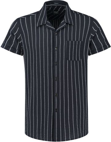 Dstrezzed Shirt Seersucker Stripe Navy