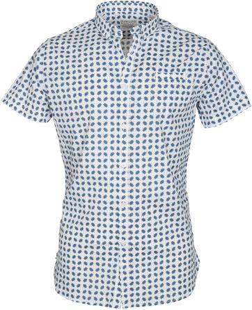 DStrezzed SS Overhemd Blauw Dessin