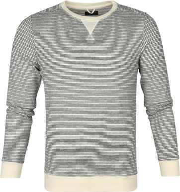 Dstrezzed Super Soft Sweater Stripes Off-White