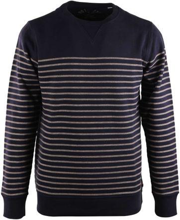 Dstrezzed Sweater Donkerblauw Streep