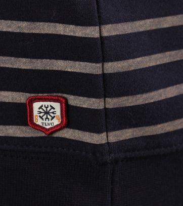 Detail Dstrezzed Sweater Donkerblauw Streep