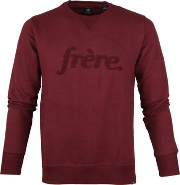 Dstrezzed Sweater Frère Port Red
