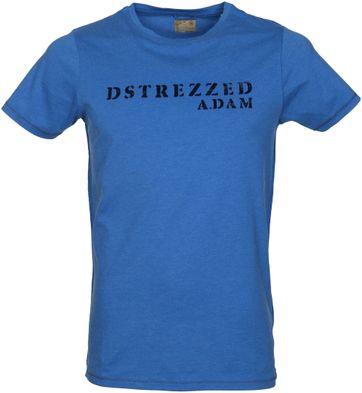 Dstrezzed T-Shirt Blau Meliert