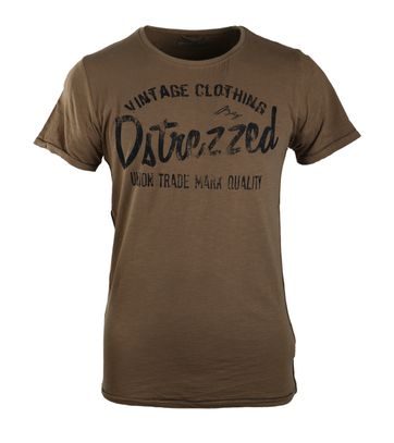 Detail Dstrezzed T-shirt Brown Graphic