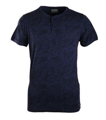 Dstrezzed T-shirt Donkerblauw Print