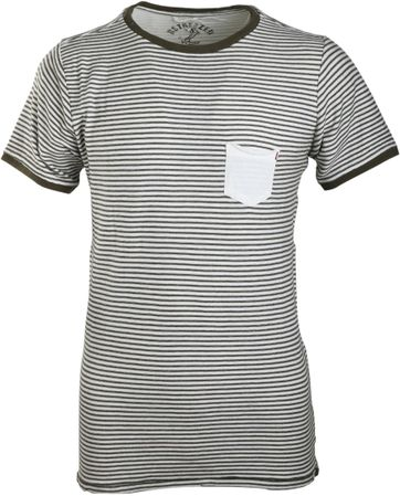 Dstrezzed T-shirt Olijfgroen Streep