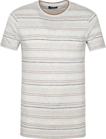 Dstrezzed T Shirt Streifen Hellgrau