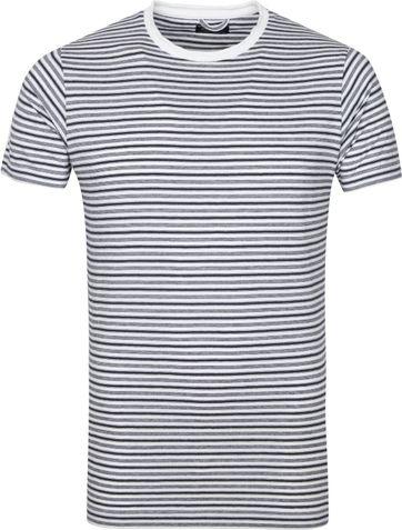 Dstrezzed T Shirt Streifen Weis