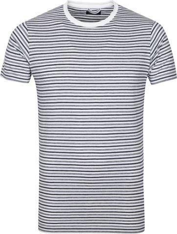 Dstrezzed T Shirt Streifen Weiss