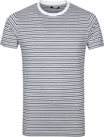 Dstrezzed T-shirt Strepen Wit