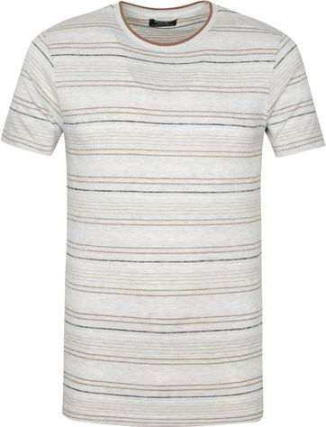 Dstrezzed T Shirt Stripes Light Grey