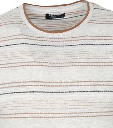 Dstrezzed T Shirt Stripes Light Grey
