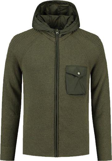 Dstrezzed Vest Hooded Donkergroen
