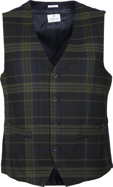 Dstrezzed Waistcoat English Check