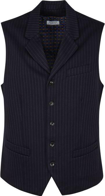 Dstrezzed Waistcoat Navy Stripe