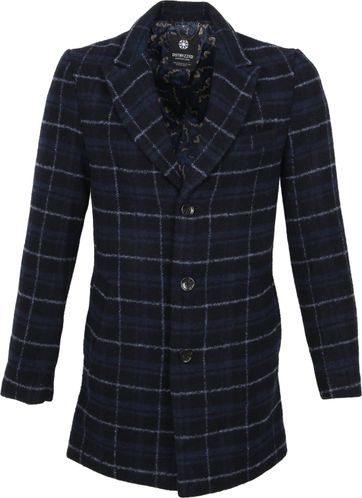 Dstrezzed Wool Jacket Boucle Rhombus Darkblue