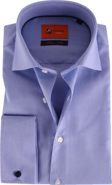 Dubbelmanchet Overhemd Blauw 52-21