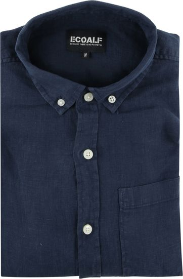 Ecoalf Shirt Linen Dark Blue