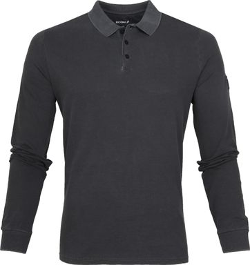 Ecoalf Ted Poloshirt LS Dark Grey