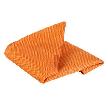 Einstecktuch Seide Orange Motiv