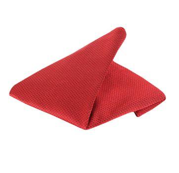 Einstecktuch Seide Rot Motiv