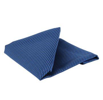 Einstecktuch Seide Royal Blau Motiv