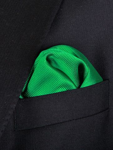 Einstecktuch Seide Smaragdgrün F68