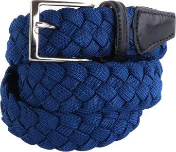 Elastische Geflochtene Gürtel Blau