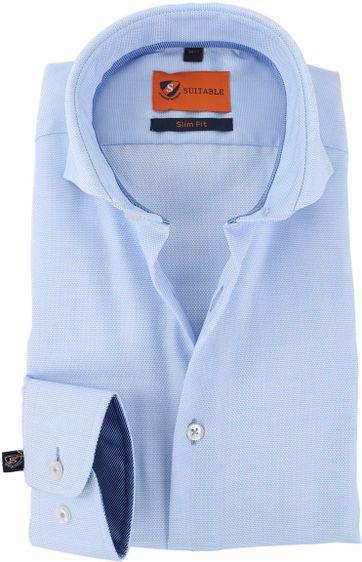 Extra lange Ärmel Hemd Blau 150-4