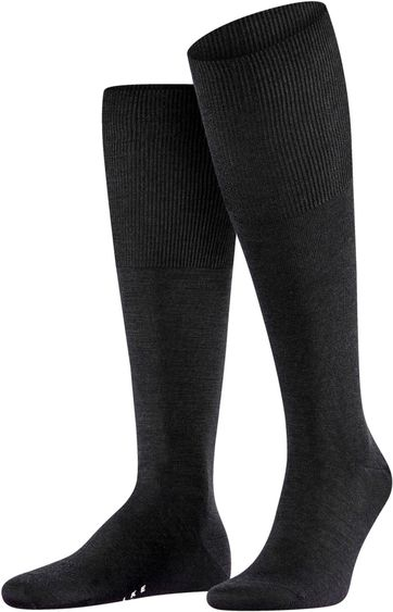Falke Airport Knee Socks Black 3000