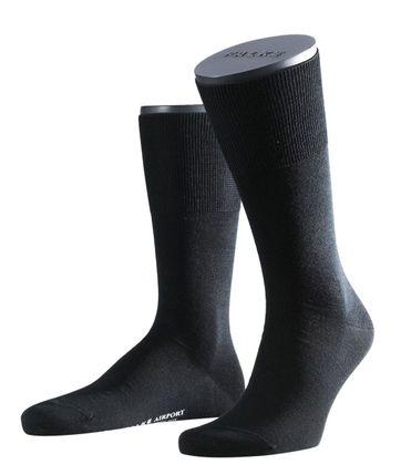 FALKE Airport PLUS Socken Schwarz 3000