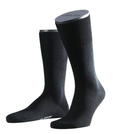 Falke Airport PLUS Socks Black 3000