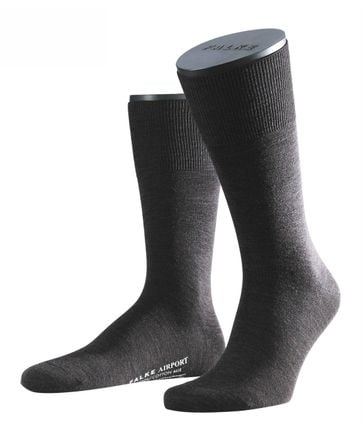 FALKE Airport Socken Anthrazit 3080