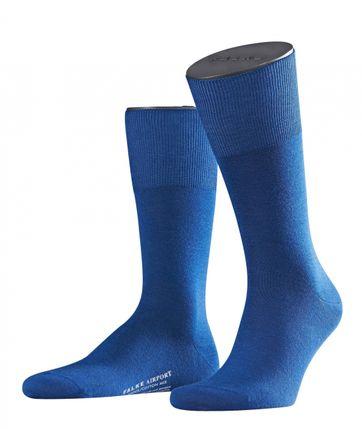 FALKE Airport Socken Indigo Blau 6000
