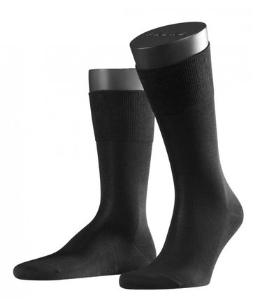 FALKE Airport Socken Schwarz 3000