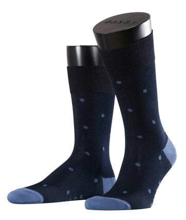 Falke Fashion Sok Dot Donkerblauw 6377