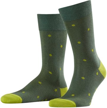 Falke Fashion Sok Dot Groen 7504