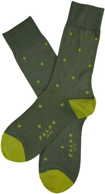 Falke Fashion Sok Dot Groen 7504