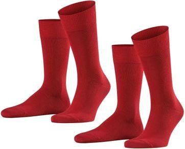 Falke Happy Socken 2 Paar Rot