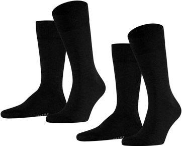 Falke Happy Socken 2 Paar Schwarz 3000