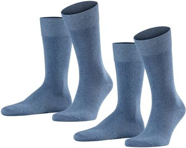 Falke Happy Socks 2 Pair Blue Melange