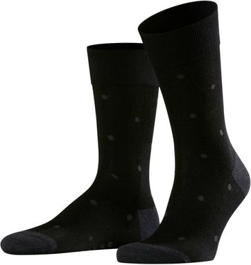 Falke Sok Dot Zwart 3096