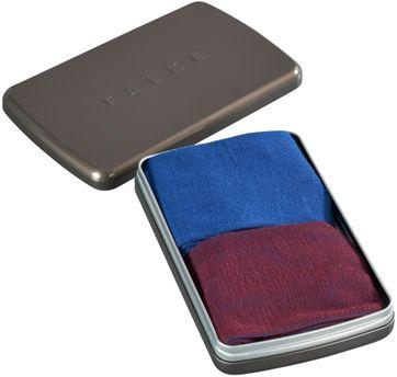 Falke Sokken Gift Box Kobalt & Bordeaux