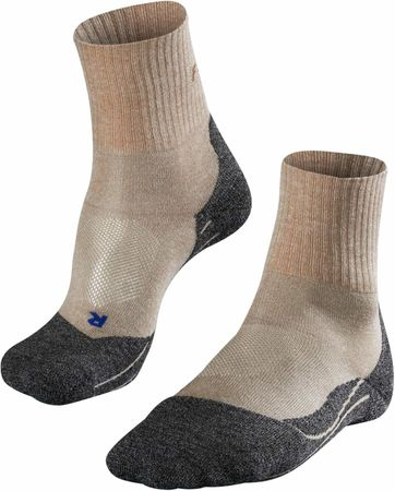FALKE TK2 Wander Socken Short Beige