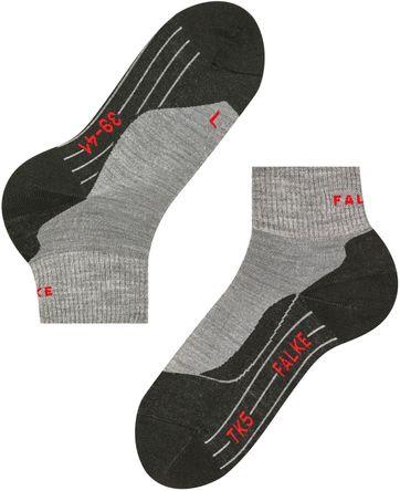 FALKE TK5 Wander Socken Short Grau