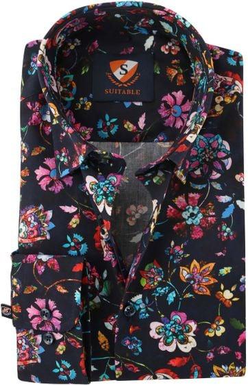 Flower Power Overhemd Donkerblauw 154-5