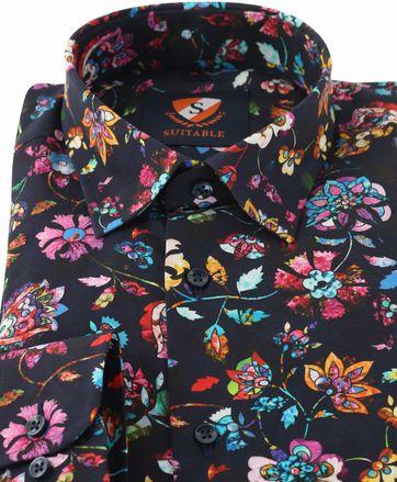 Detail Flower Power Overhemd Donkerblauw 154-5